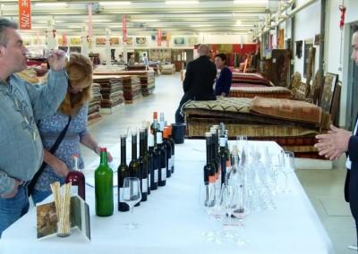Teppichzentrum Weinverkostung